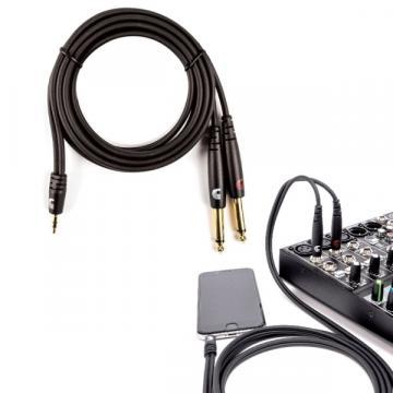 360x360_741a8bbc wharry câble, 180cm 1 8'' mini stereo (3 17mm) to dual 1 4
